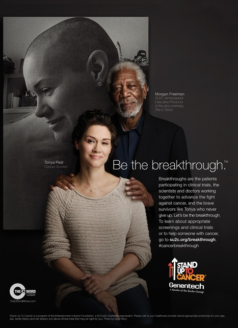Roche's Genentech Taps Morgan Freeman for Stand Up to Cancer PSA Ad & Social Media Campaign   Disruptive Digital Technology News & Views   Scoop.it