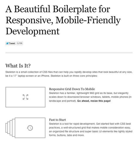 Skeleton: Beautiful Boilerplate for Responsive, Mobile-Friendly Development | Web develop | Scoop.it