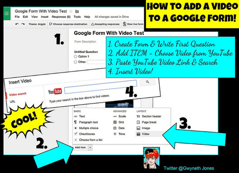 How to Add a Video to a Google Form in 4 Easy Steps Infographic | A Librarian Who Uses Technology to Support Instruction Designed For All Learners | Scoop.it