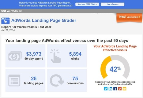 The AdWords Landing Page Grader: Try Our New Free Landing Page Tool | WordStream | #TheMarketingTechAlert | SEO e SMM | Scoop.it