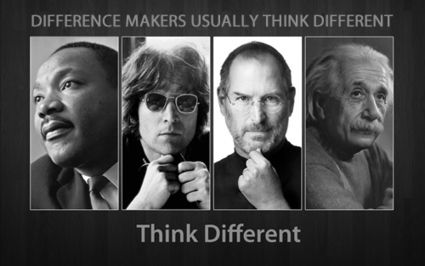 DIFFERENCE MAKERS USUALLY THINK DIFFERENT | Culturational Chemistry™ | Scoop.it