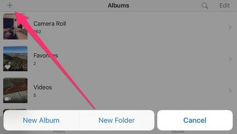 Long-Press the Plus Button in iOS Photos to Create a New Folder - Lifehacker | Resources and ideas for the 21st Century Classroom | Scoop.it