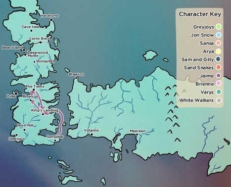 Game of Thrones season six was full of impossible journeys, so we mapped them | Didattica innovativa, Gamification, Serious Game | Scoop.it