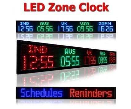 Digital time zone clocks, multiple time zone digital display clocks | Tickerplay Signs and Displays | Scoop.it
