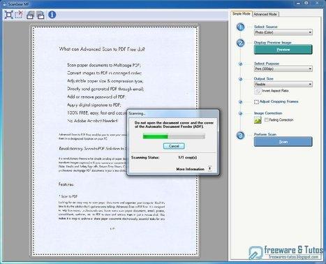 Advanced Scan to PDF Free : un logiciel gratuit pour numériser vos documents en fichiers PDF   Geeks   Scoop.it