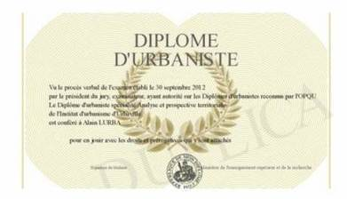 "Un diplôme labellisé ""urbaniste"" pour la profession 