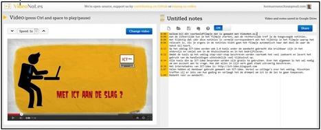 VideoNot.es: Plaats notities naast o.a. Youtube- en Vimeofilmpjes. | Nieuwsbrief H. van Schie | Scoop.it