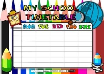 School Timetable ACTILUDIS   Attention WorkShee...