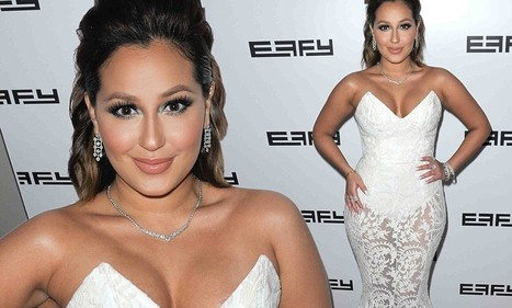 Adrienne Bailon lights up New York City jewelry maker party in white gown with ... - Daily Mail | Fashion Jewelry | Scoop.it