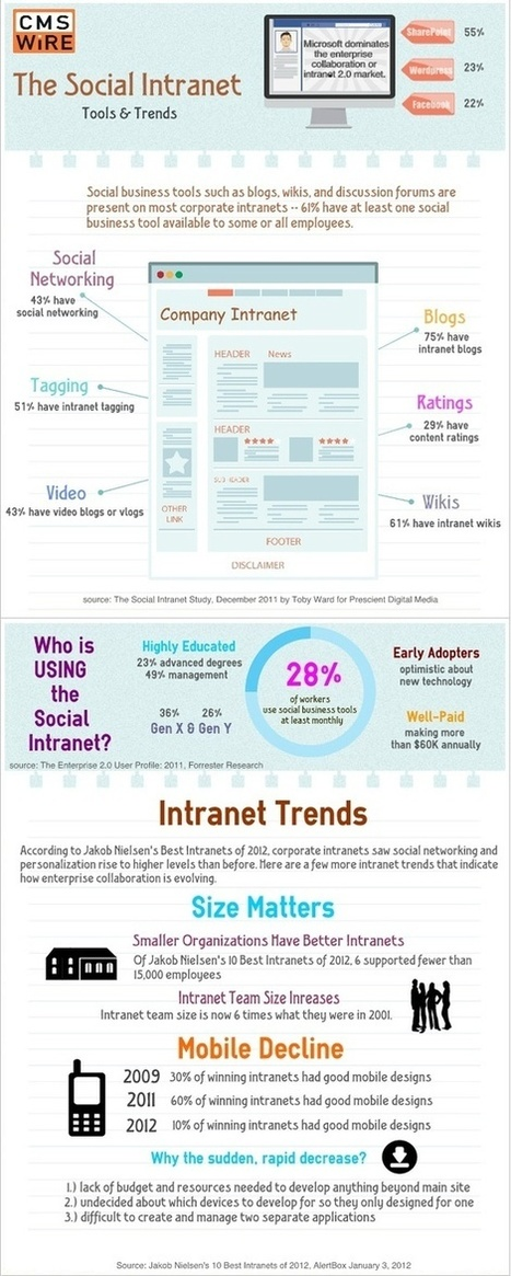 Feiten en trends in Sociaal Intranetten - SocialMedia.nl nieuws ... | De Informatieprofessional | Scoop.it