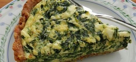 Σπανακόπιτα με ζεματισμένο σπανάκι και καλαμποκάλευρο σε αφράτη ζύμη | Greek traditional recipes | Scoop.it