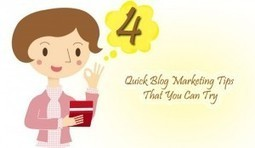 4 Quick Blog Marketing Tips That You Can Try | ClickCabin | click cabin | Scoop.it
