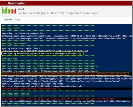 vNext Build fails with error message 'Cannot find solution' because it does not exist. | Visual Studio ALM | Scoop.it