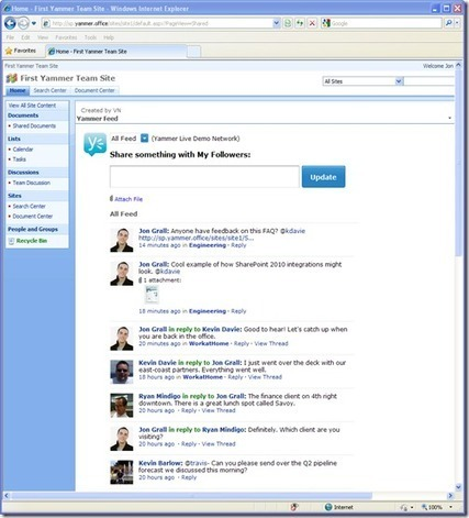 Practical Collaboration: Social Collaboration with Yammer and SharePoint | Yammer and SharePoint | Scoop.it