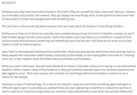 Revealing The Awesome Truth About Hackers | Learning & Mind & Brain | Scoop.it