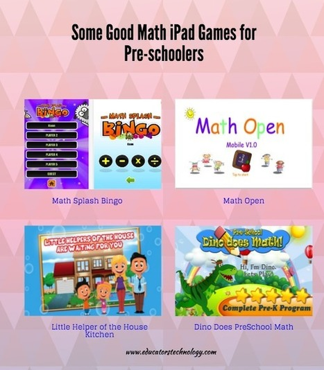 4 Good Math iPad Games for Pre-schoolers ~ Educational Technology and Mobile Learning | Learning*Education*Technology | Scoop.it