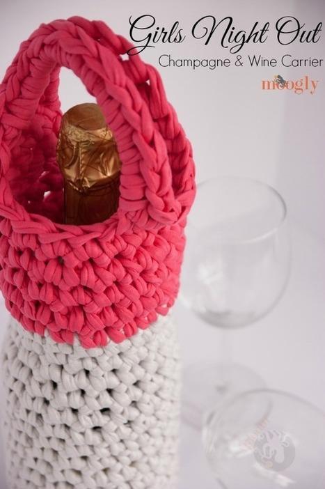 Free Crochet Pattern: Girls Night Out Champagne & Wine Carrier | Crochet | Scoop.it