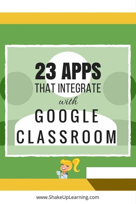 23 Awesome Apps that Integrate with Google Classroom | Shake Up Learning | Keeping up with Ed Tech | Scoop.it