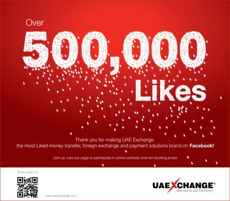 UAE Exchange Scores Half-a-million Facebook fans! | UAE Exchange | Scoop.it
