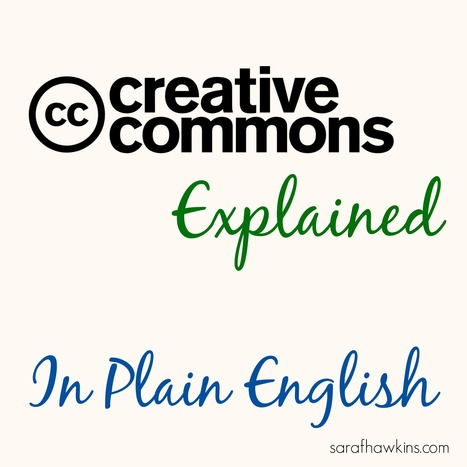 Creative Commons Licenses Explained In Plain English | Content Curation for dummies | Scoop.it