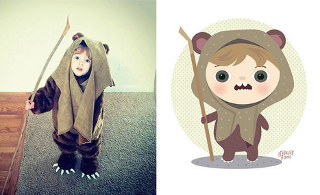 Children's Photos From The Internet & Turn Them Into Playful #Illustrations | Design Ideas | Scoop.it