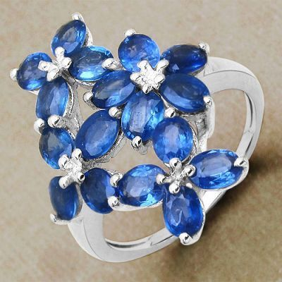 4.25CTW Genuine Blue Sapphire .925 Sterling Silver Ring   Online Jewellery Shopping in India   Scoop.it