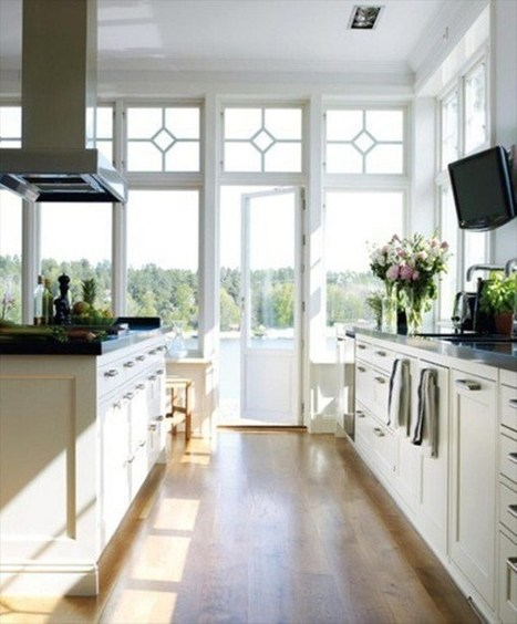 Luxury White Kitchen Interior Decor | 2012 Interior Design, Living Room Ideas, Home Design | Scoop.it