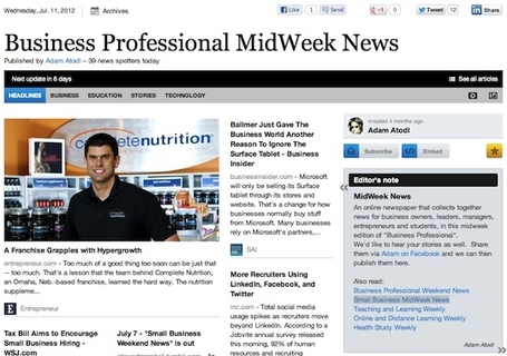 July 11 - Business Professional MidWeek News | Transformations in Business | Scoop.it