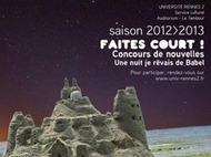 [Initiative] Faites court ! Le concours de nouvelles de l'Université de Rennes 2 - jusqu'au 14 janvier 2013 | S-eL : semaine e-learning | Scoop.it