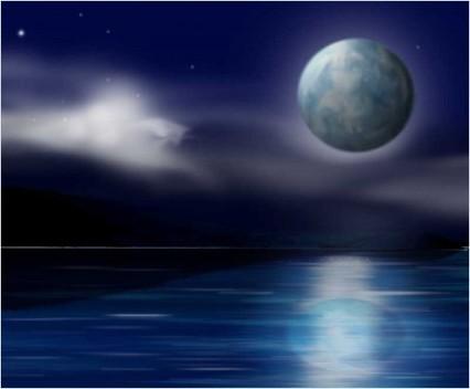 Digital Painting: Blue Moon | RedGage | Matte painting | Scoop.it