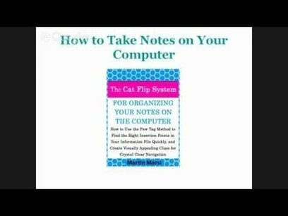 Learn how to take notes on your computer by setting up a journaling system in 5 minutes | How to Take Notes, Journaling, Diary writing & Personal Organization | Scoop.it