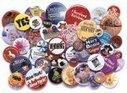 Buttons med fullfarge trykk | T-skjorter, Isskraper, Logobånd, USB-minnebrikker, Drikkeflasker | Scoop.it