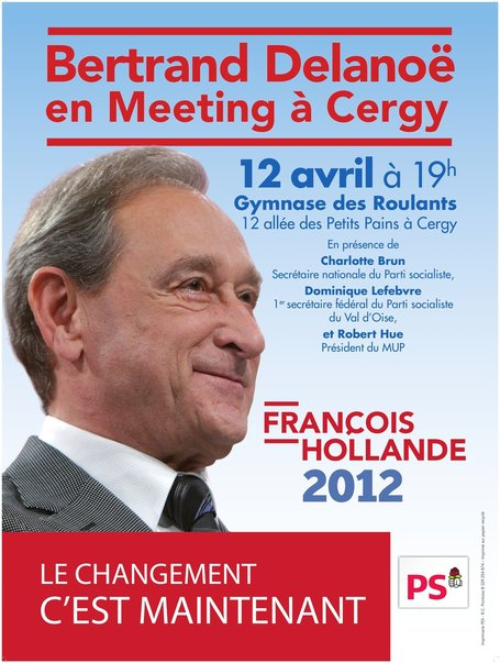 Bertrand Delanoë en meeting à Cergy | Agglomération de Cergy-Pontoise | Scoop.it