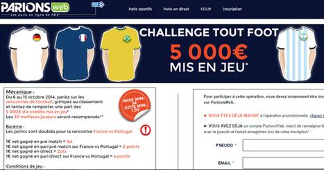 ParionsWeb offre 5000€ pour un challenge 100% foot | Paris sportifs & bookmakers | Scoop.it