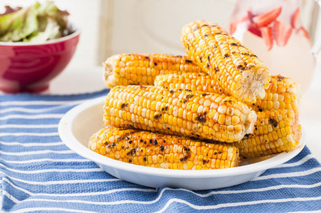 Grilled Corn with Honey-Ginger Barbecue Sauce. #Food #Recipes | Dinner Recipes | Scoop.it