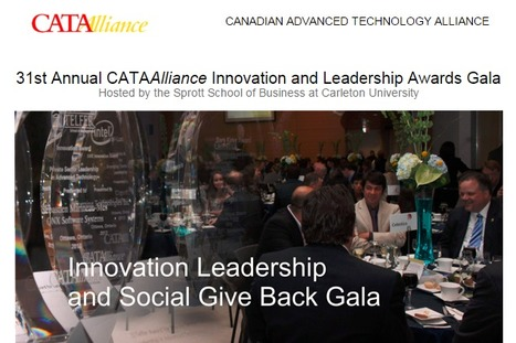 31st Annual CATAAlliance Innovation and Leadership Awards Gala; May 26th in Ottawa, ON | Space Conference News | Scoop.it