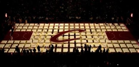 Projection 3D sur le terrain de basket des Cleveland Cavaliers   ArTIES   Scoop.it