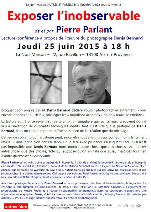 (agenda) 25 juin, Aix-en-provence, Pierre Parlant | Poezibao | Scoop.it