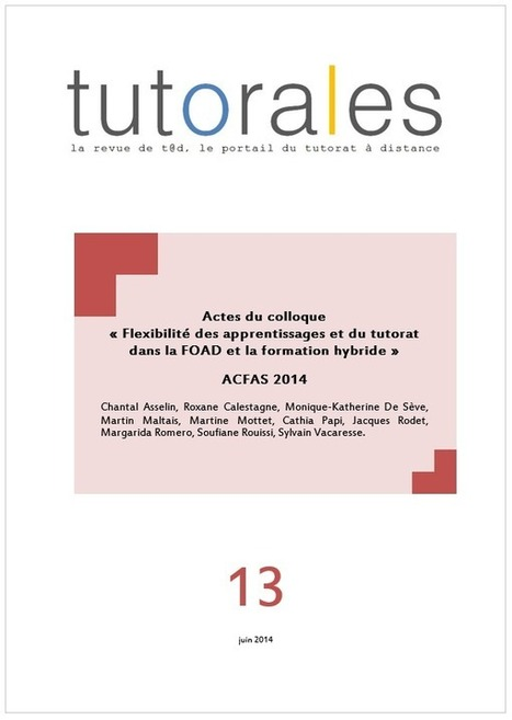 Blog de t@d: Parution du n° 13 de la revue Tutorales | tad | Scoop.it