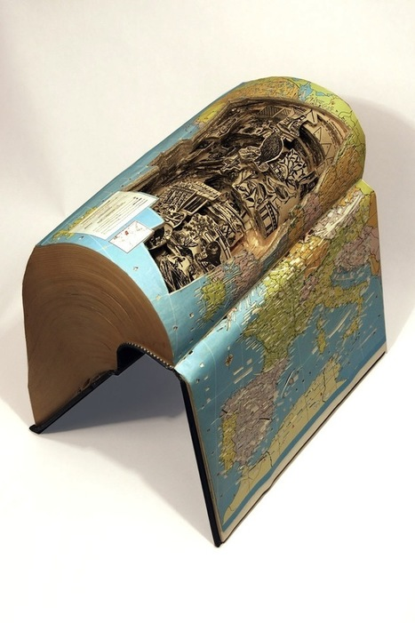 Insane art formed by carving books with surgical tools | Google Lit Trips: Reading About Reading | Scoop.it