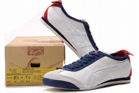 Asics Mexico 66 White/Dark Blue/Red Men's | my want collection | Scoop.it