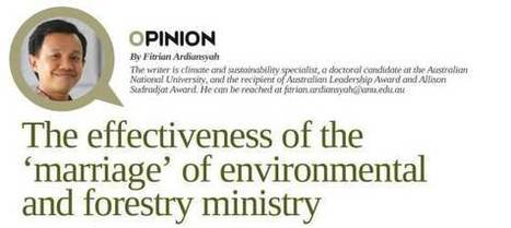 The effectiveness of the 'marriage' of environmental and forestry ministry | Orangutan Land Trust | Scoop.it