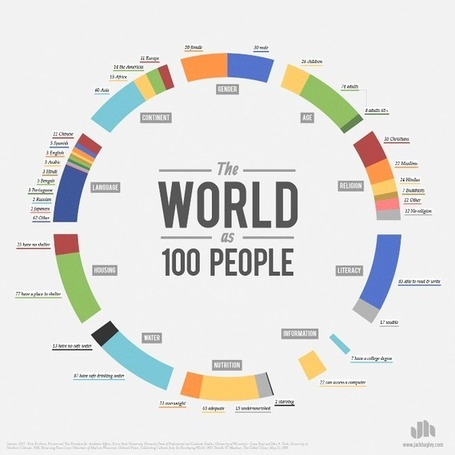 The World as 100 People / Infographic | visual data | Scoop.it