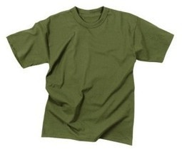 Olive Drab Military T-Shirt (Polyester/Cotton) USA Made 6979 Size Large | Military Surplus Center | Scoop.it