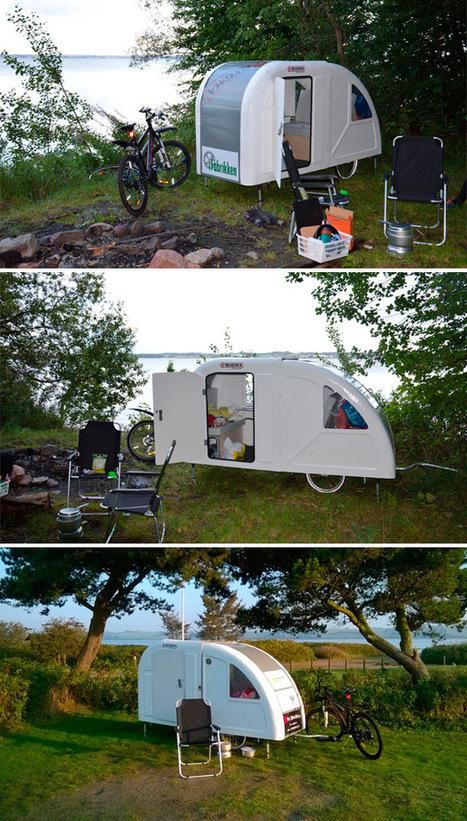 Wide Path Camper, una pequeña caravana específica para bicicletas | Visionario | Scoop.it