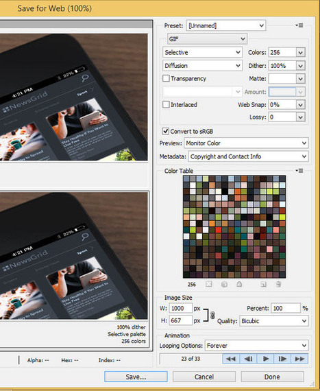 Create an Animated Interface GIF in Adobe Photoshop - Tuts+ Design & Illustration Tutorial | Resources & Tutorials | Scoop.it
