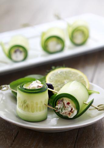 Cucumber Feta Rolls | Healthy Appetizer | Good Life Eats | Foodies Delights | Scoop.it