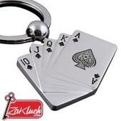 Метален ключодържател - комбинация от  карти - покер | Bikez | Scoop.it