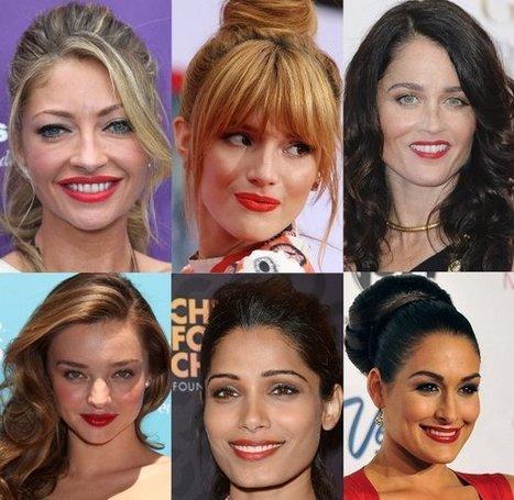Celebrity Red Lipstick Trend 2013: How To Wear It | Celebrity Fashion News | Scoop.it