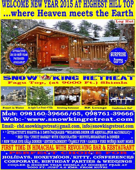 Heaven Meets the Earth - Snow King | Hotel in Shimla - Snow King Retreat | Scoop.it